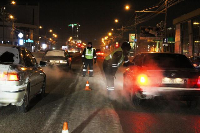 За ночь сотрудники Госавтоинспекции остановили на дорогах Красноярска 14 пьяных водителей