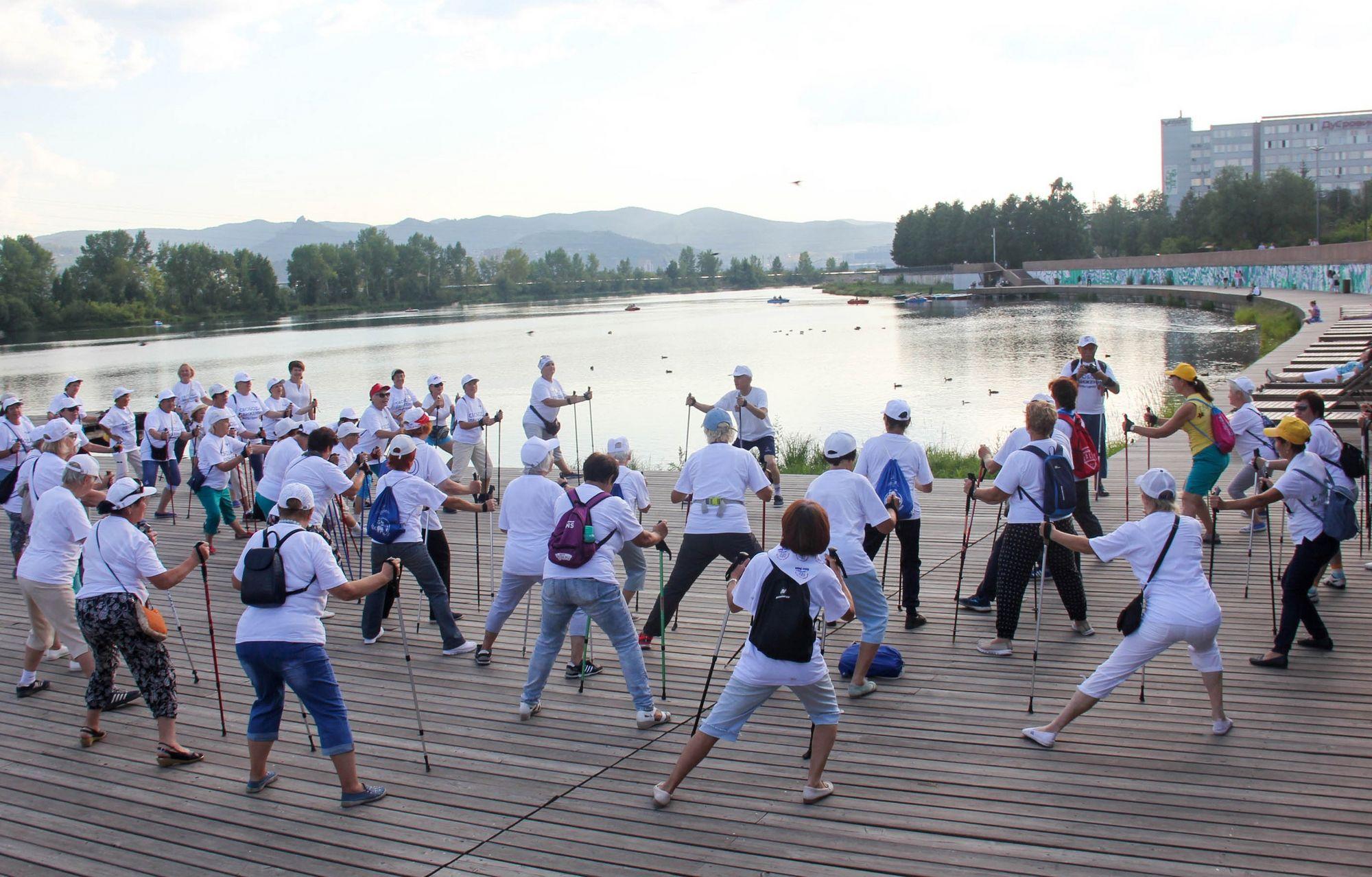 На набережной Енисея в Красноярске началось спортивное лето