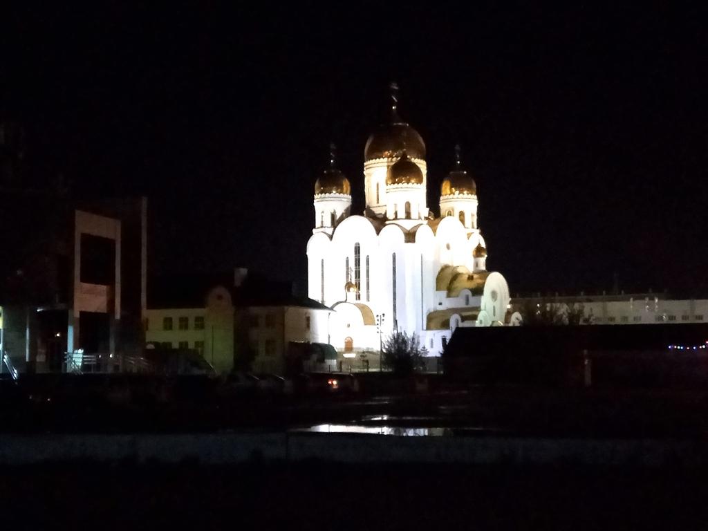 В рождественскую ночь около храма Рождества Христова в Красноярске частично перекроют движение транспорта