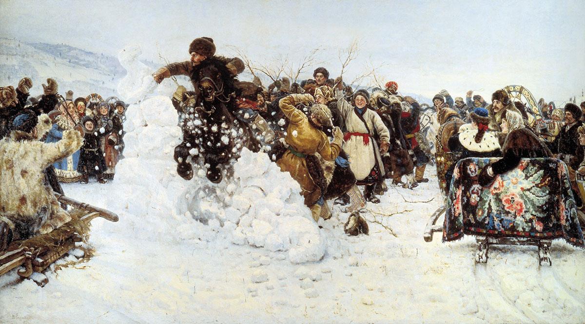 Картину «Взятие снежного городка» Василия Сурикова привезут в Красноярск