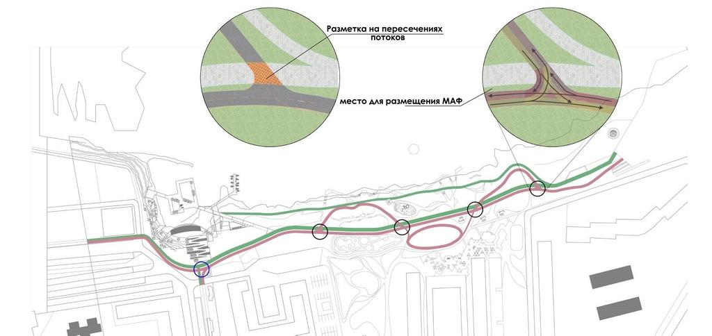 Красноярские велосипедисты оценили проект велодорожки на правобережной набережной