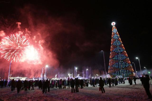 На главной ёлке Красноярска произошло три несчастных случаях