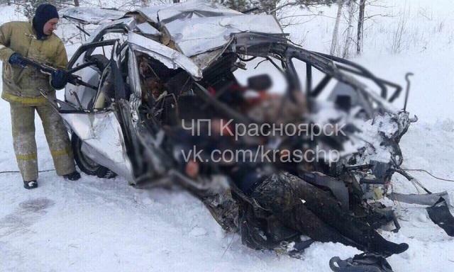 Количество жертв в аварии в Дзержинском районе Красноярского края возросло до 8 человек