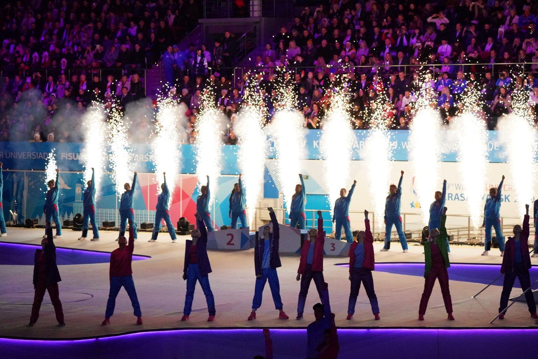 Церемония закрытия универсиады проходит в Красноярске