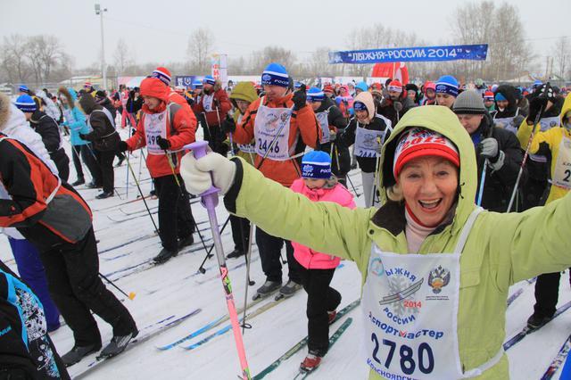 В Красноярске на острове Татышев началась лыжная декада