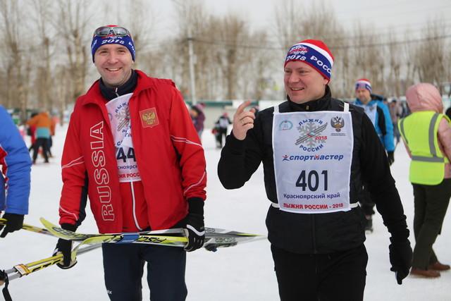 Мэр Красноярска Сергей Ерёмин принял участие в «Лыжне России»