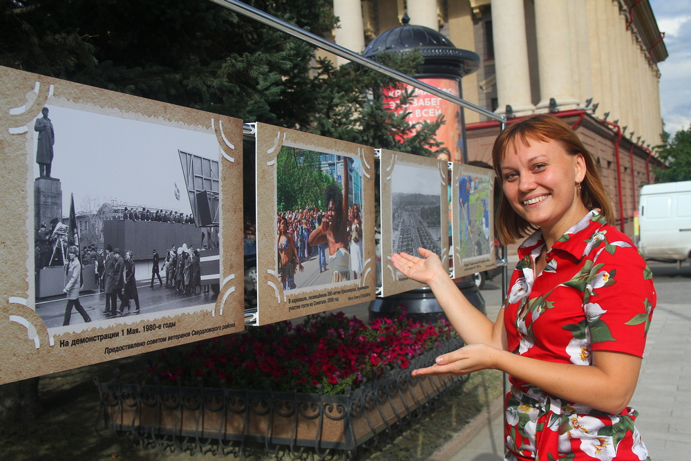 Исторические фото попали на стены Красноярского городского архива