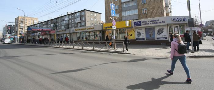 В Центральном районе Красноярска бизнесмены убирают свои павильоны