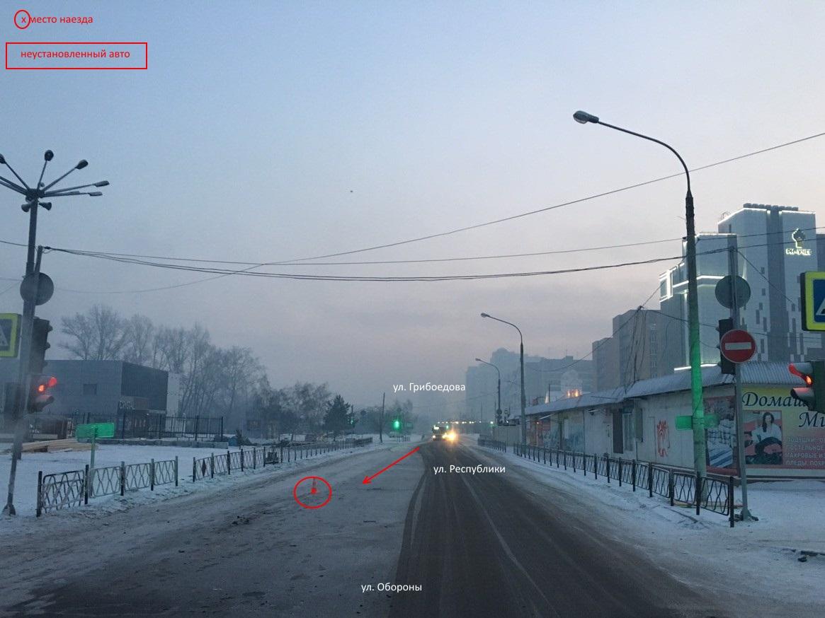 В Красноярске нашли водителя, который 1 января насмерть сбил 19-летнего парня