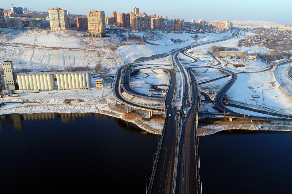 Красноярцы не могут сориентироваться на новой развязке Николаевского моста