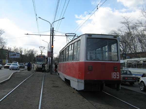 В Красноярске сегодня вечером изменится схема движения трамваев
