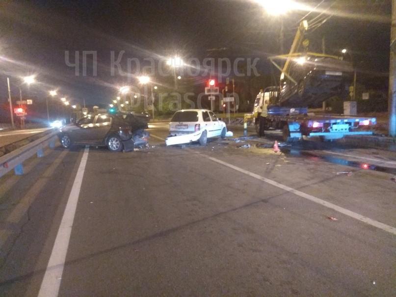 В Красноярске произошла массовая авария по вине пьяного водителя