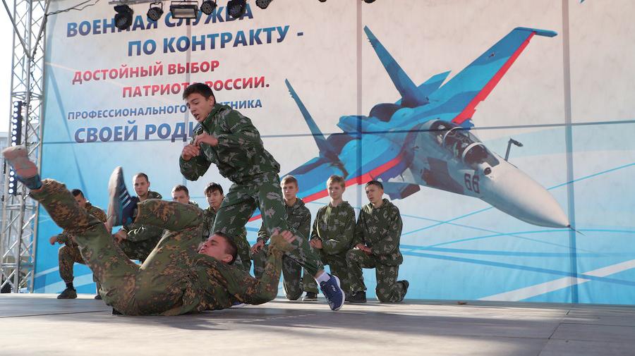 «Русские витязи» пролетели над Красноярском