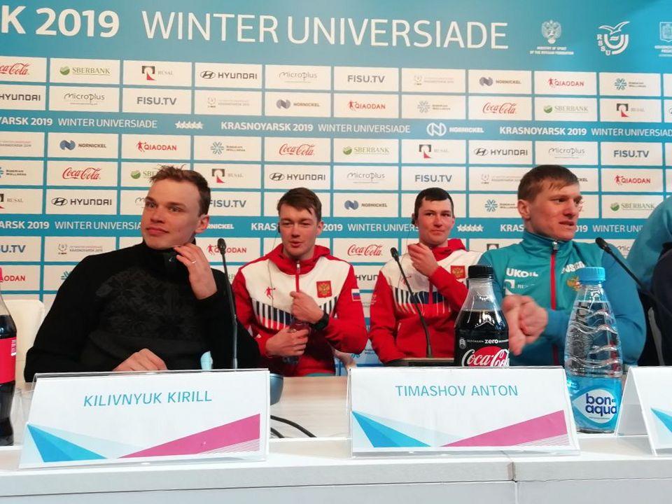 Российская команда поблагодарила красноярца Кирилла Киливнюка за победу в эстафете