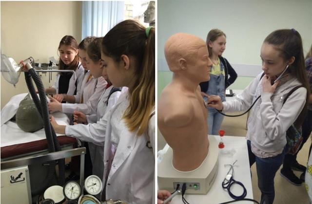 Красноярские школьники связывают своё будущее с медициной
