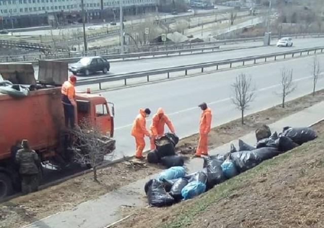 Собранный во время субботника мусор вывезут из Красноярска в течение трёх дней