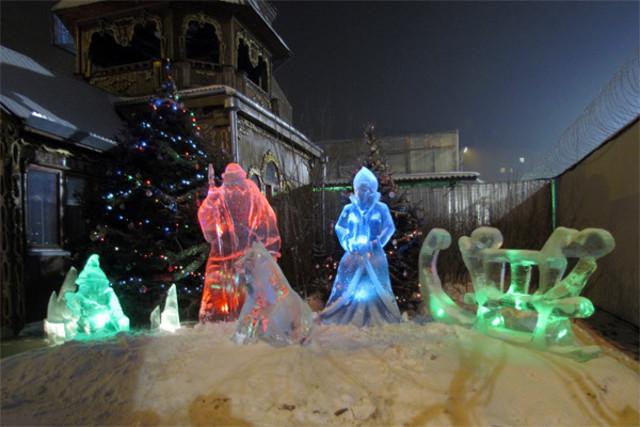 В красноярских исправительных колониях прошел конкурс на лучшую ледяную скульптуру