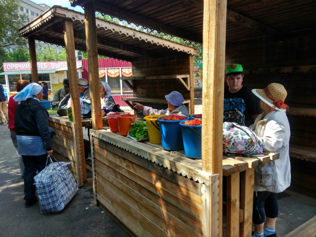 На рынке «Злобино» в Красноярске появились новые прилавки