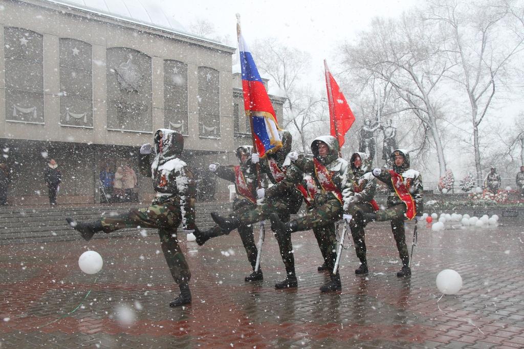 В Красноярске почтили память воинов-спортсменов