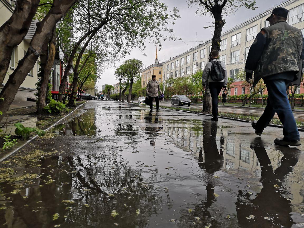 Красноярск прошёл первое в этом году испытание ливнем