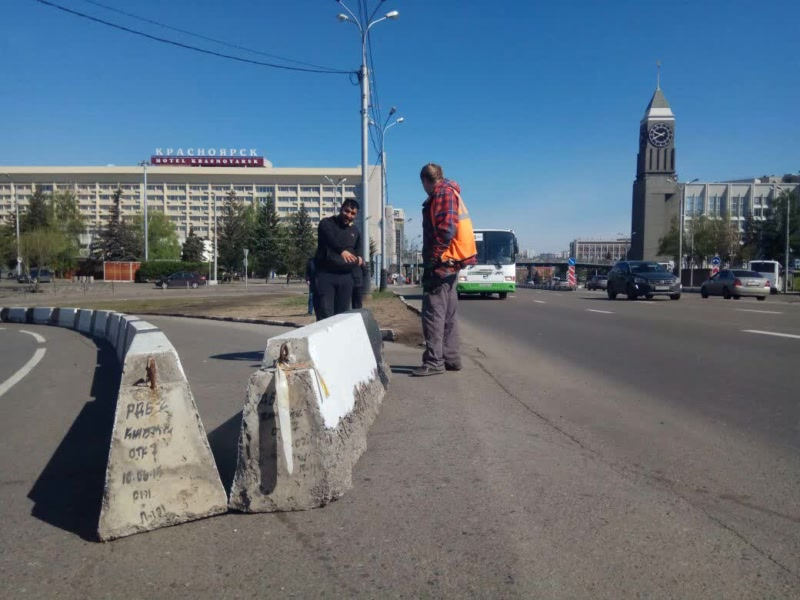 В Красноярске закрыли поворот на Коммунальный мост