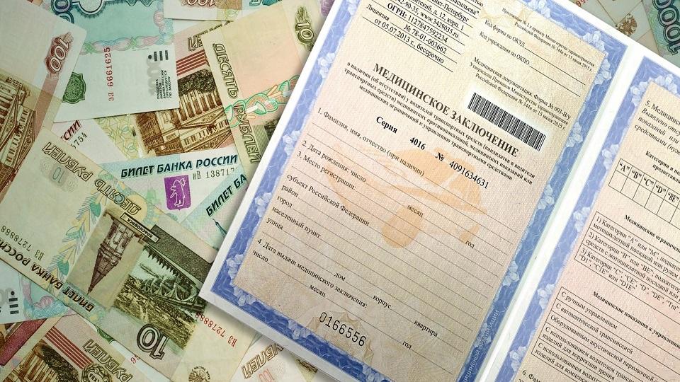 Сколько стоит мед справка водительская в 2019 году в Климовске