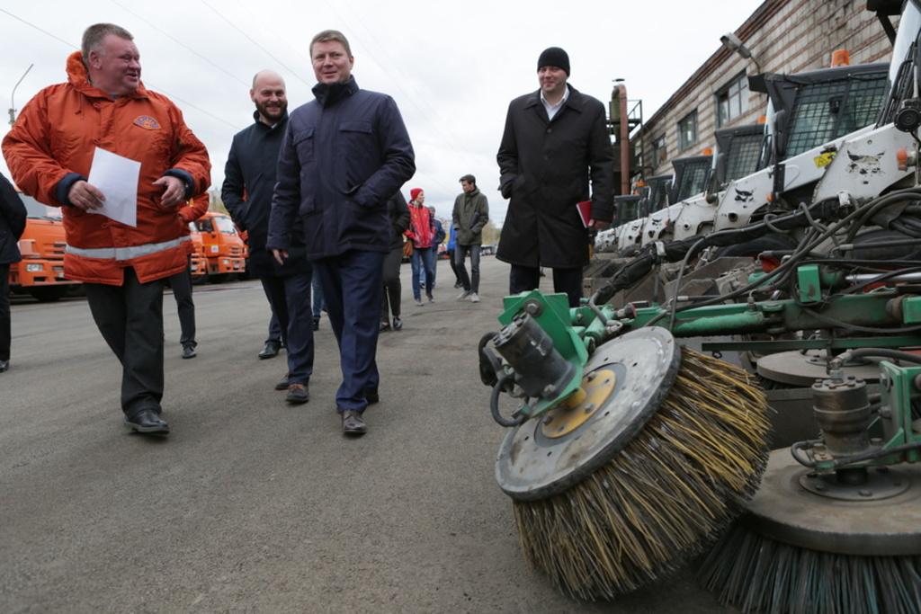 Зимой на дорогах Красноярска применят инновационные решения