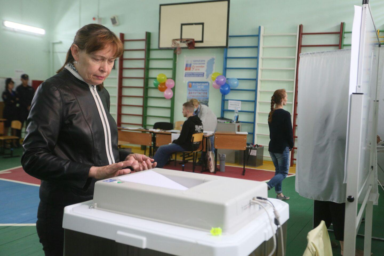 Явка на выборах губернатора Красноярского края  на 14.00 составляет 15.85%