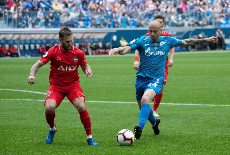 Красноярский ФК «Енисей» проиграл «Зениту» в последнем туре РПЛ