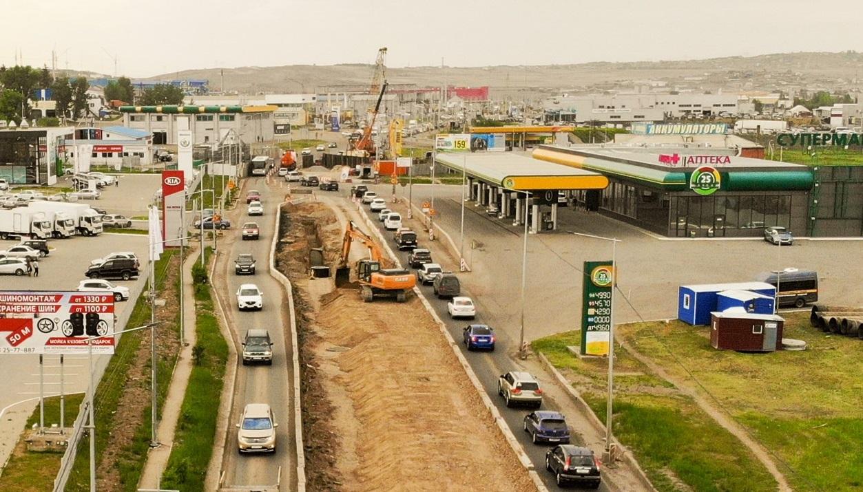 В Красноярске на проспекте Котельникова вновь изменится схема движения